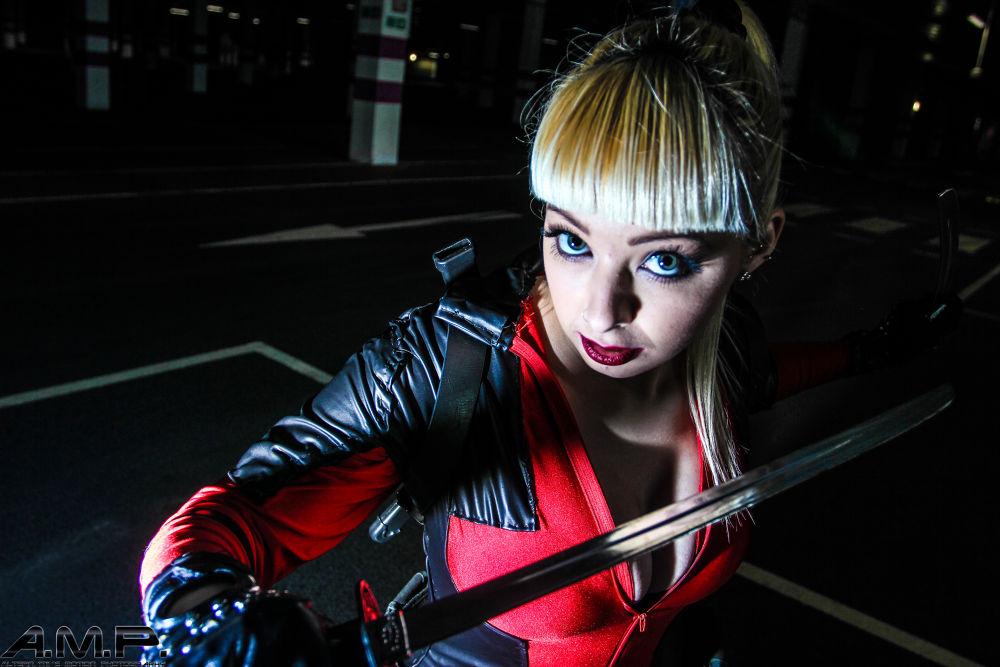 Lady Deadpool- Harley J by aceashun