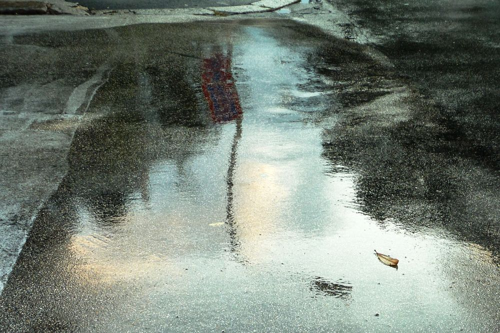 From series: Early morning puddles, Roma. (4) by Anton Agalbato