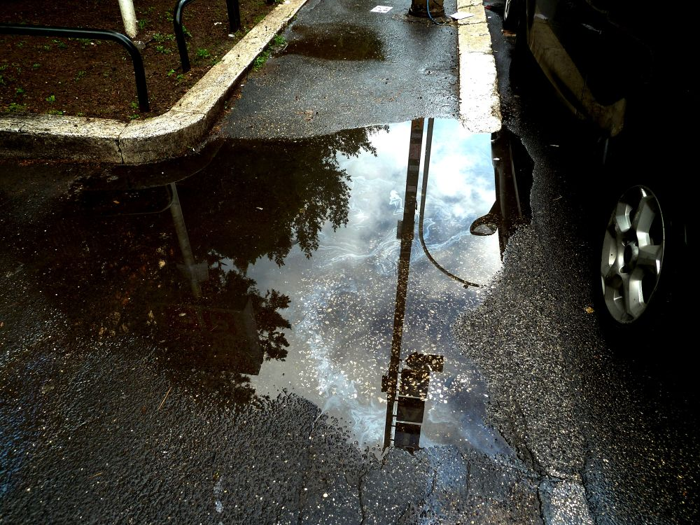 From series: Early morning puddles, Roma. (7) by Anton Agalbato