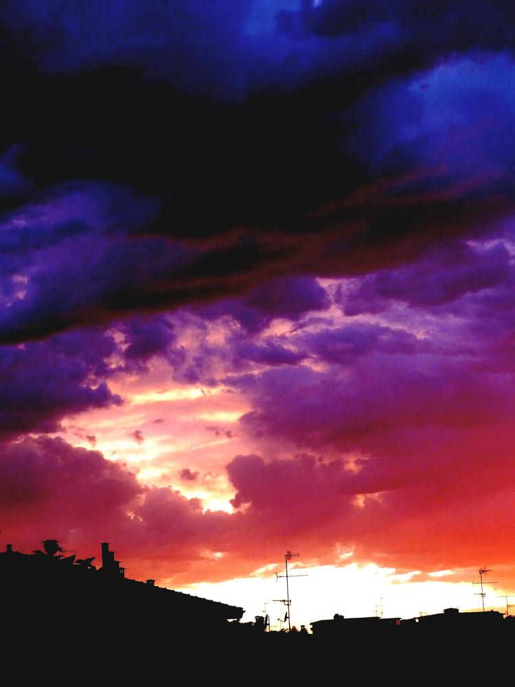 Sunset Bolognese.  Tonight. Bologna. by Anton Agalbato