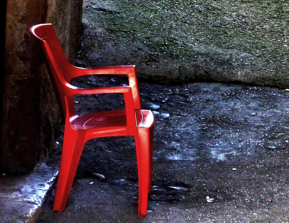 the red chair by Anton Agalbato