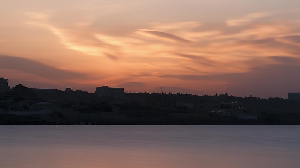 Photo in Landscape #landscape #cityscape #seascape #sunset #sea #clouds
