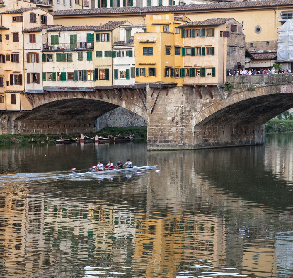 Breaking Reflection on the Arno by TScusse