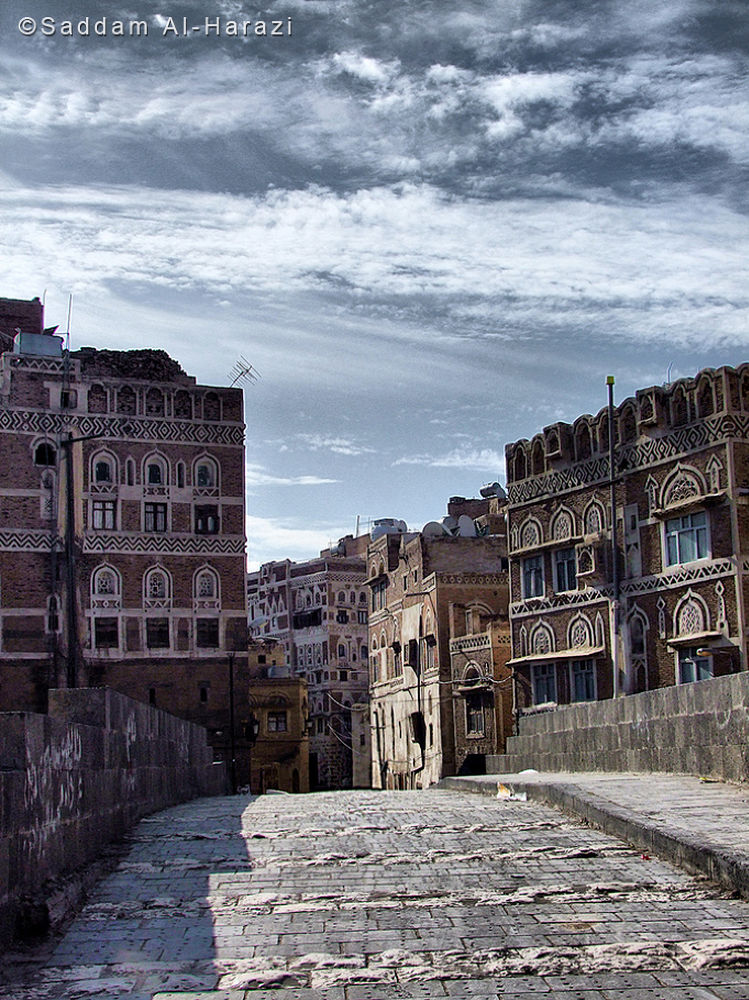 Old Sana'a city 3 by Saddam Al-Harazi