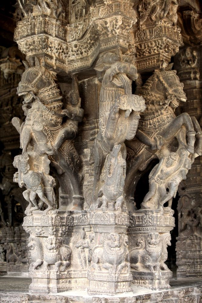 Temple art in carved stone! Tamil Nadu, India by S S Kumar