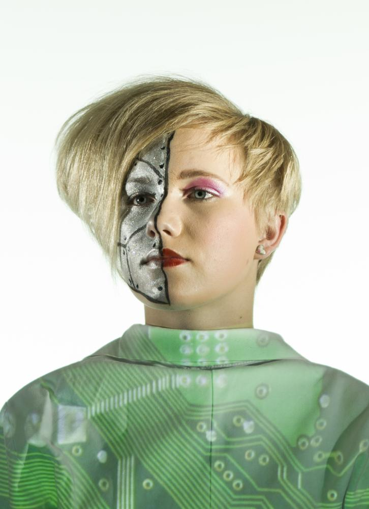 Photo in Portrait #hair #make up #robot #technologic #futuristic