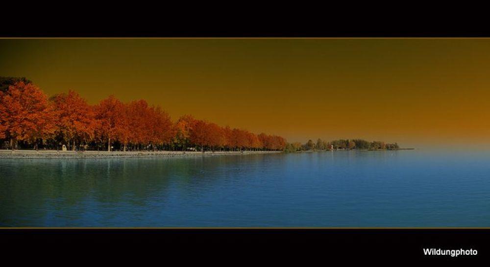 Balaton lake in autumn by Wildung