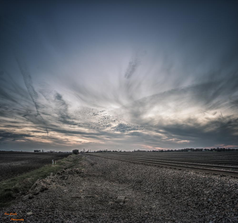 Sunset Tracks by Dan Crosby