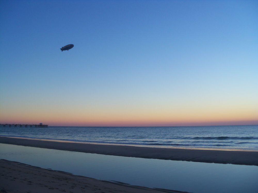 Blimp Over Beach by mrsmasch