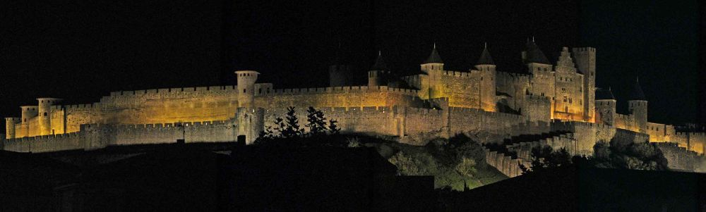 Cite de Carcassonne at Night by Carl Coan Photography