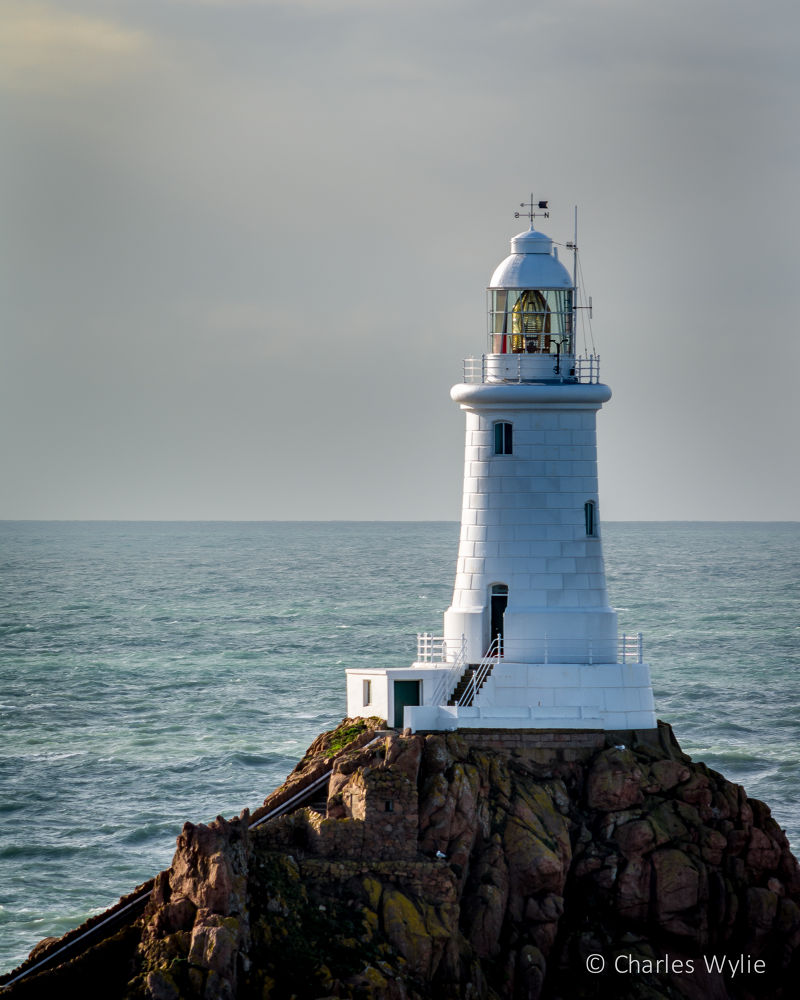 Corbiere Lighthouse - Jersey Channel Islands by Charlie Wylie