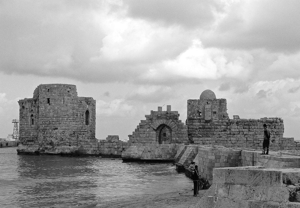 Saida, Crusader castle by Massimiliano Pisu