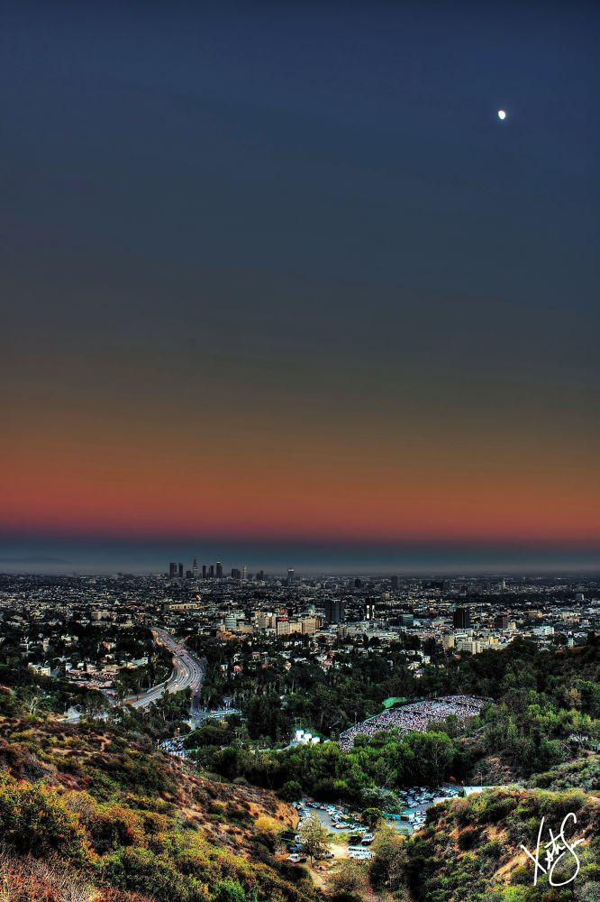 """""""Moon Over L.A."""" by XristianSimon"""