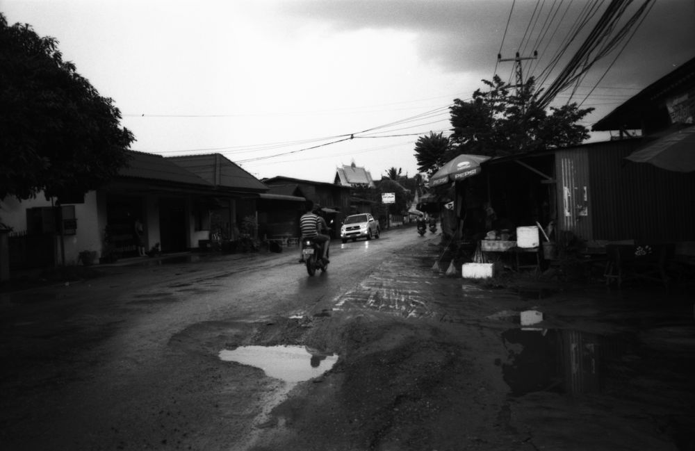 Photo in Black and White #road #rain