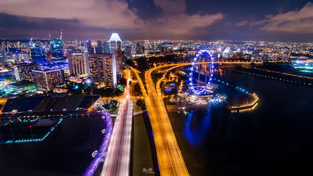 Photo in Cityscape #singapore #singapore flyer #cityscape #inspiration #awesome