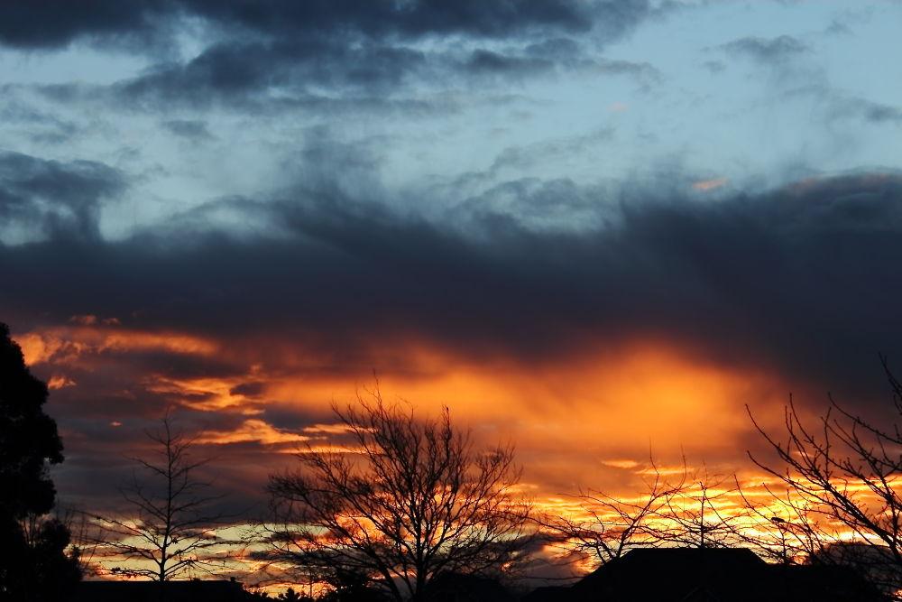 Fiery Sunset by Tracy Jones