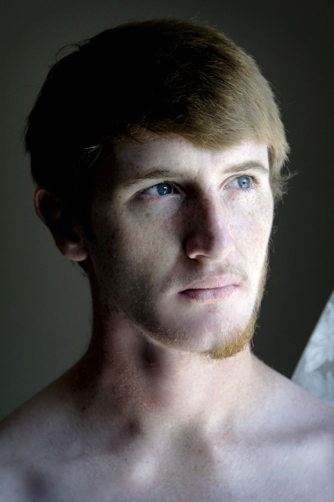 My brother, half shaved by Heinz Breitenbach