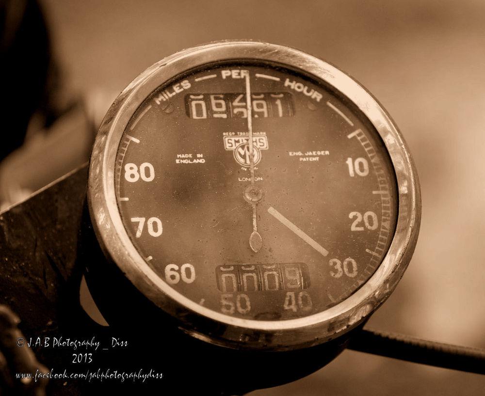 Old Speedometer by J Allan Black