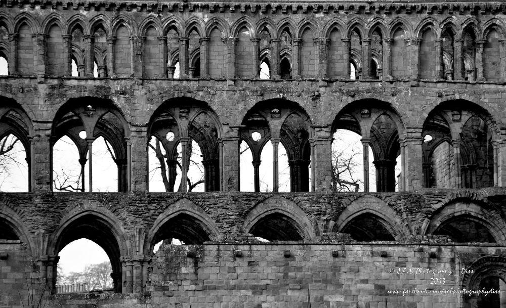Jedburgh Abbey by J Allan Black