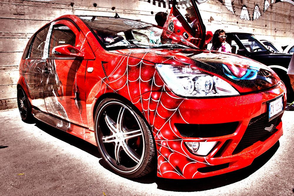 Ford Fiesta Spiderman Hdr by Carmelo Mazzaglia