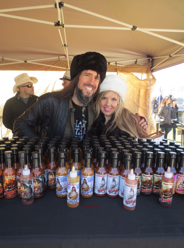 New York City Hot Sauce Expo with Guns'n'Roses Guitarist Ron 'Bumblefoot' Thal and his beautiful wif by LucindaLewis