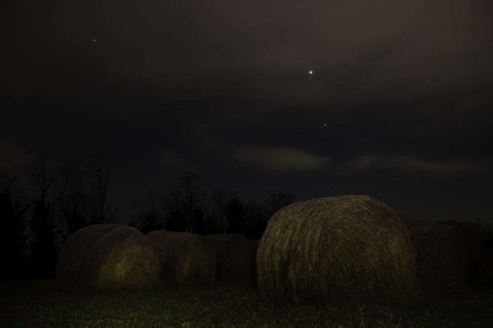 bales under the stars by William Wotring