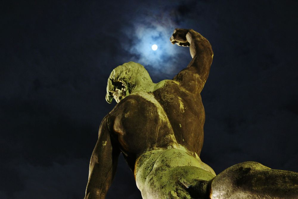 Moonlight over a Statue on the Citadel by Ben Soden