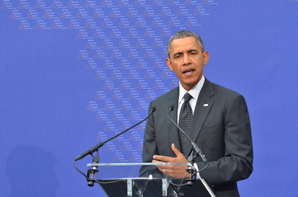 Pressconference by Barack Obama during The NSS in The hague by Richard Peter Mulder