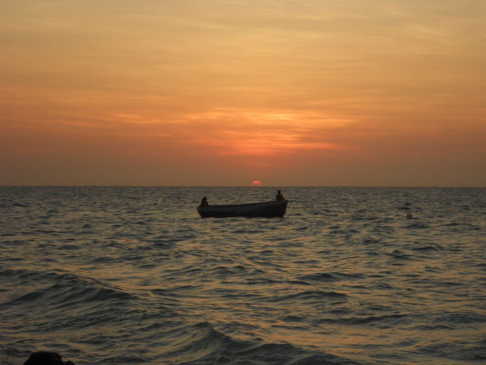 Sunset on Barú Island (Cartagena), in the Caribbean Sea by SpiderDoc