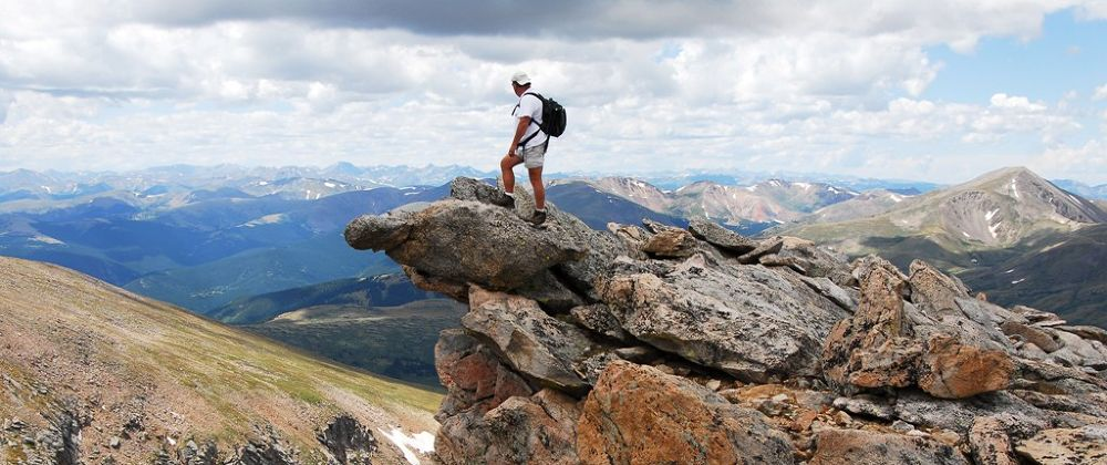 """""""Me"""" Top of the world by Bill Hitz"""