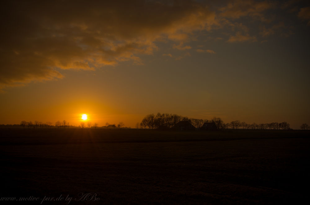 Sunset in Friesland by Alexandra Bode