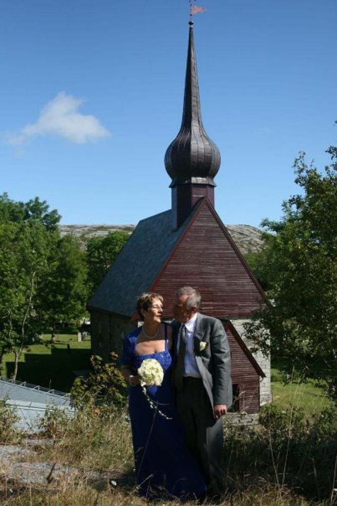 from my mothers wedding. the church is from the 1100`s by vidar mathisen
