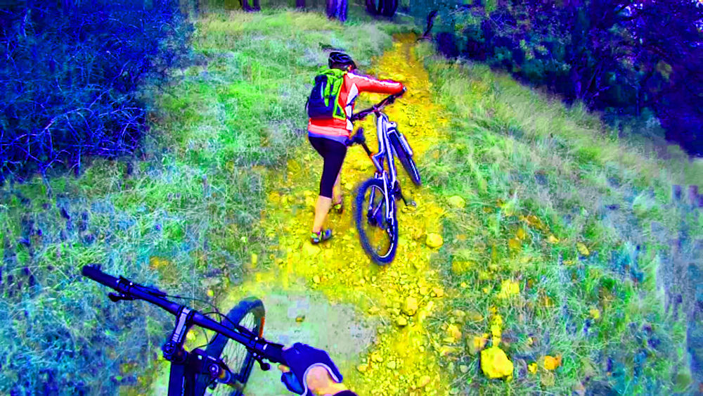 Real Mountain Bikers Walk. by digipro