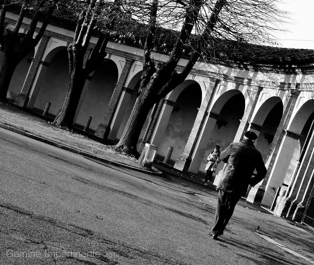 Photo in People #man #old #walking #b&n #people #landescape #art #photography #italy