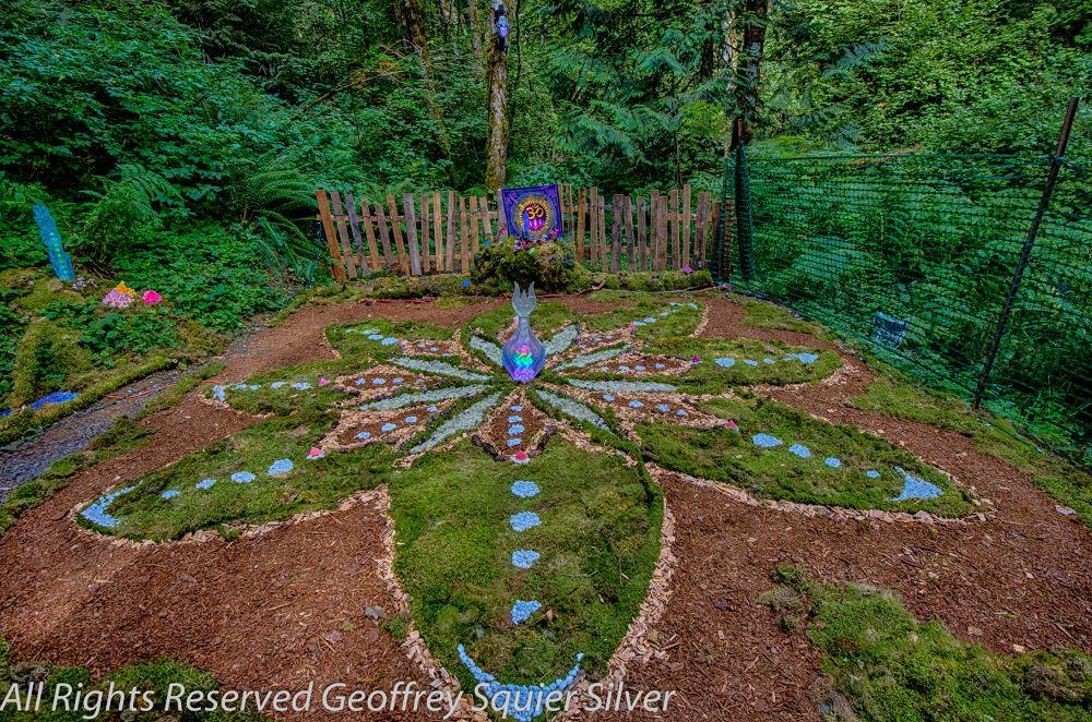 Earth mandalla  by Geoffrey Squier Silver