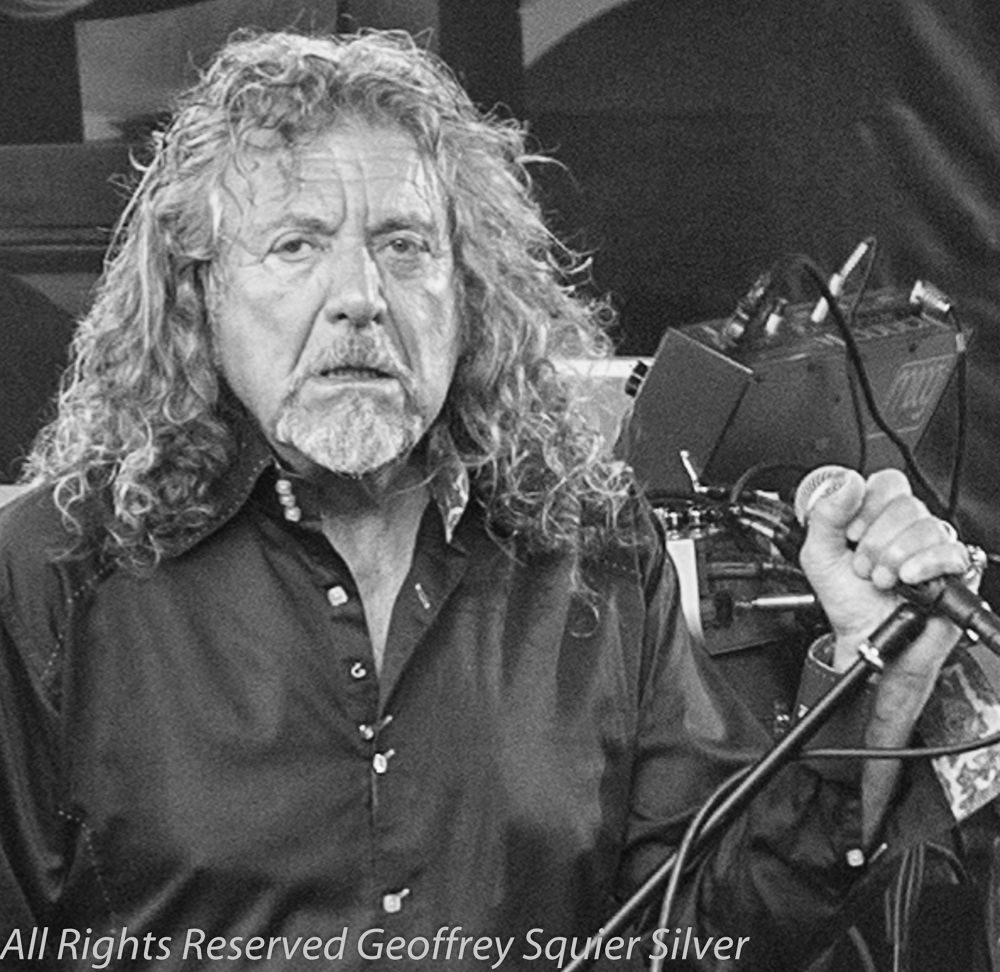 Robert Plant-2013 Waterfront Blues Festival Portland, Oregon by Geoffrey Squier Silver