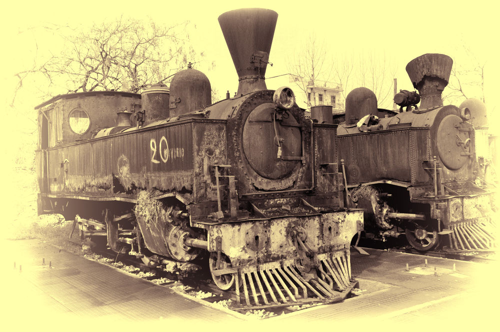 Greece, Volos City. Old Trains 02 by iliaskgr