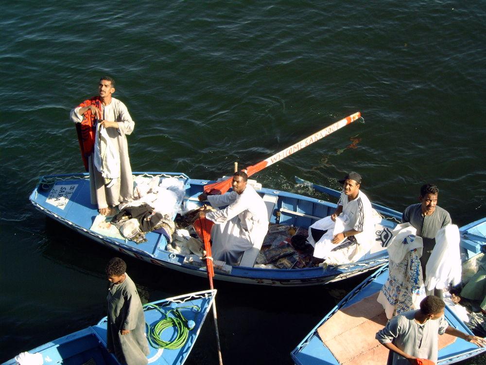 Floating Market, Egypt by Angelique Sanders