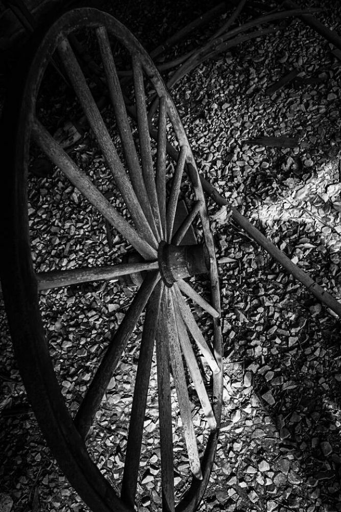 Old Wheel by Kevin