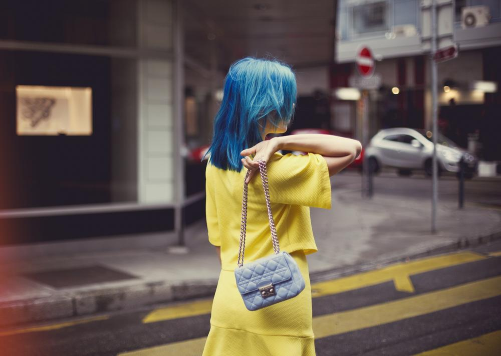 Photo in People #beauty #crazy #blue #unusual