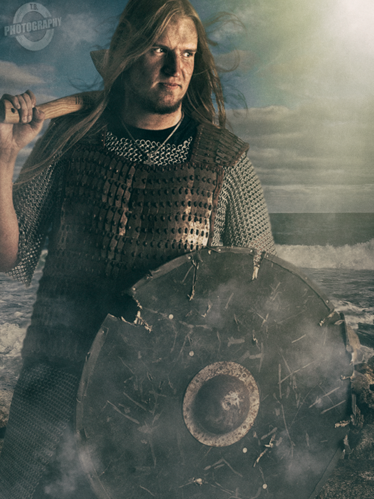Viking on the beach by T.B.Photography
