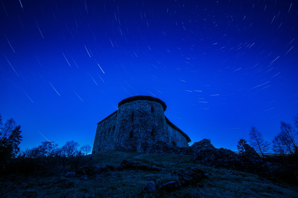Startrails at Raasepori castle by Jouni Lappi