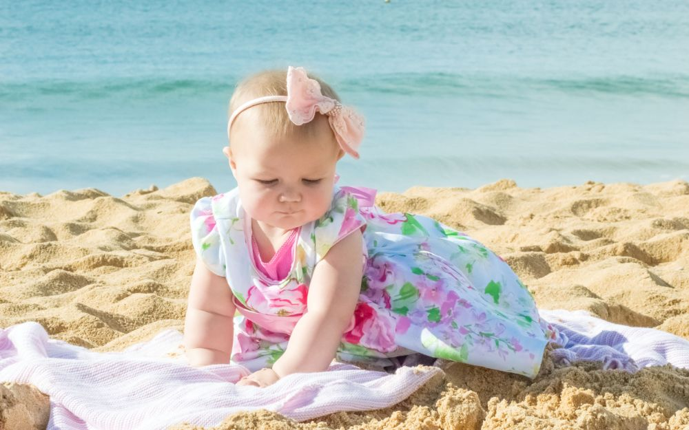 Baby on Australian Beach by Taylor Maree