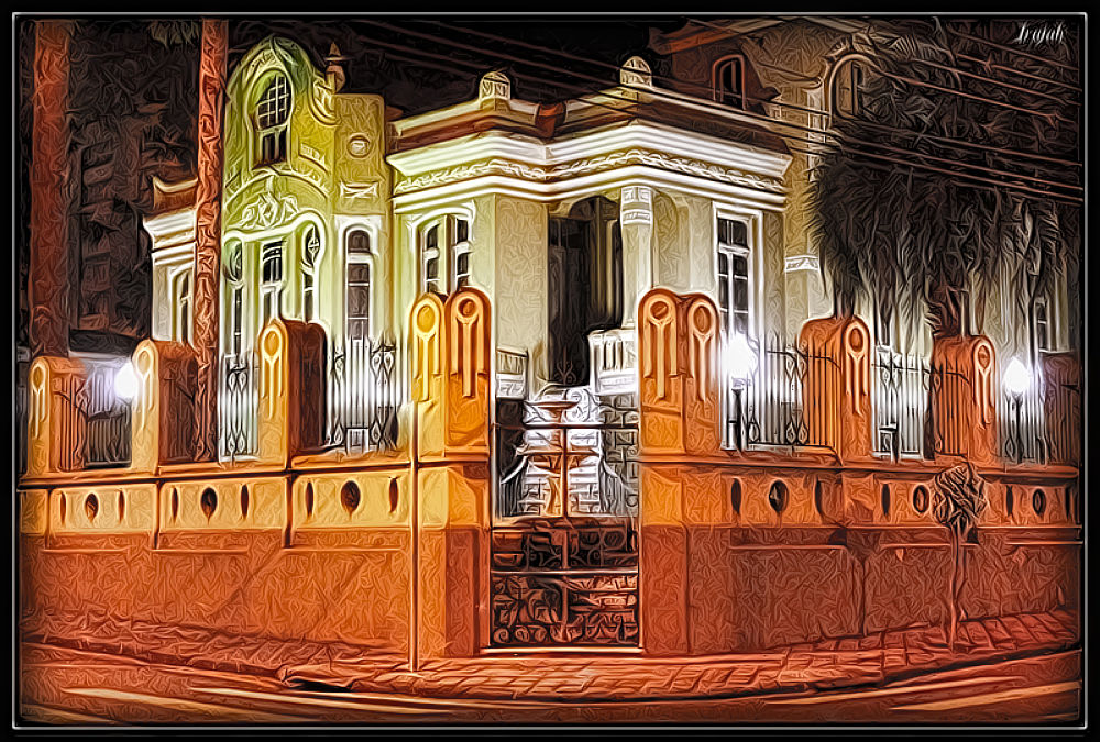 Photo in Random #old house #house #historic #obama #light