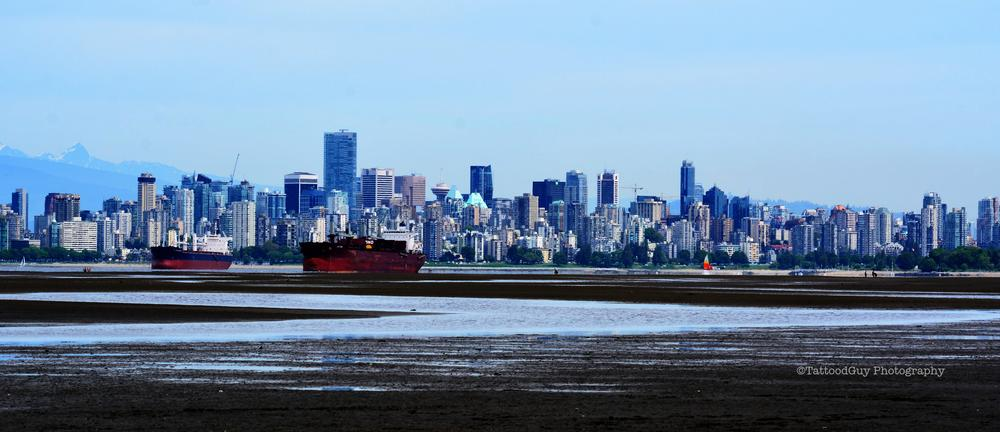 Ships and City  scape by Michael Séan