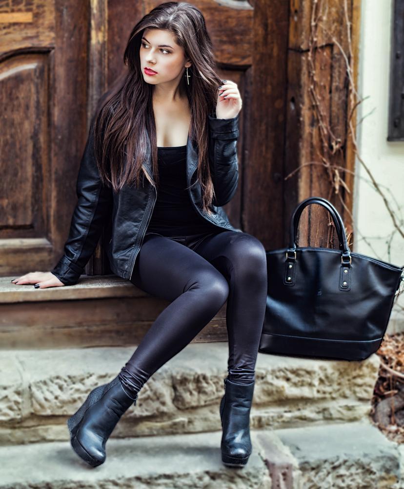 Photo in Fashion #martin heiser photography #nikon #nikkor #fashion #shooting #photo #photography #foto #fotografie #leather bag #leather jacket #leggins #red lips #long brown hair #halle/ saale #sachsen- anhalt #germany #deutschland #nikon d7100