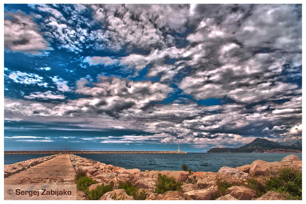 The lighthouse. Photo HDR. Bar. Montenegro. by Sergej Zabijako