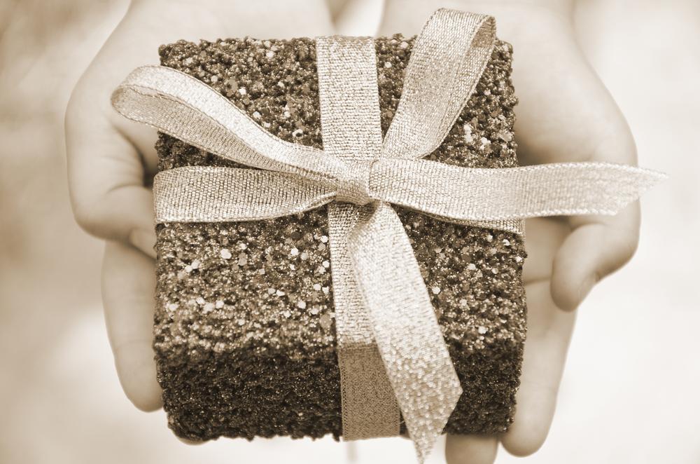 Photo in Random #sepia #present #gift #child #glitter #sparkle #ribbon #nikon