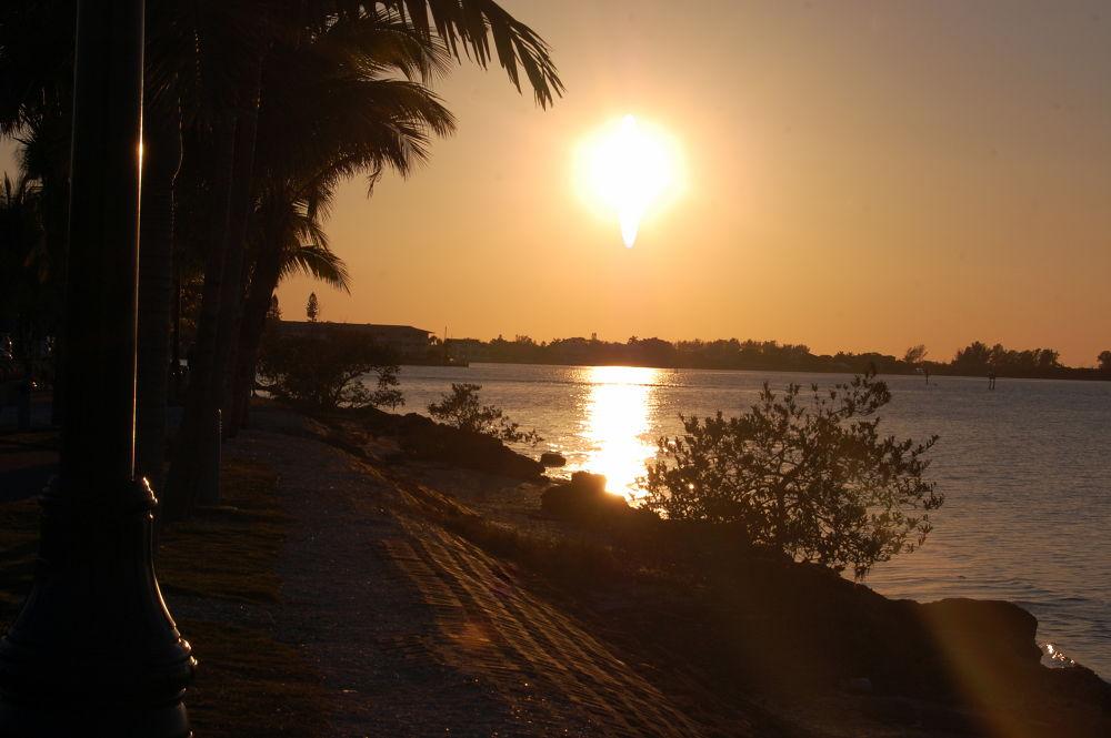 sunset in Sarasota Florida by MoniqueTabensky Photography