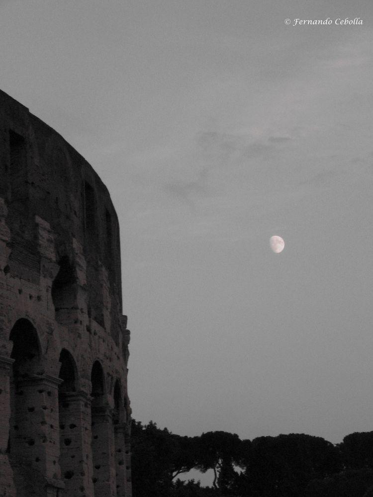 Photo in Random #italy #rome #italia #roma #luna #coluseo #coliseum